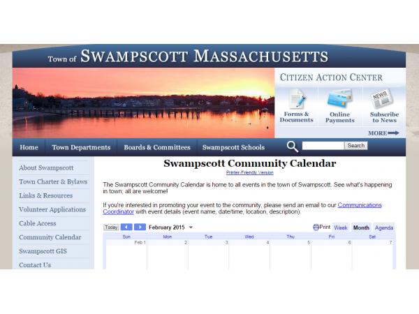 Swampscott Launches Community Events Calendar Swampscott