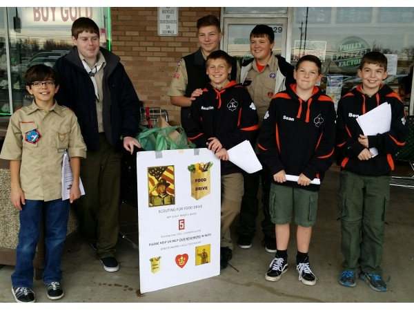 troop 5 scouting for food drive is a success northton