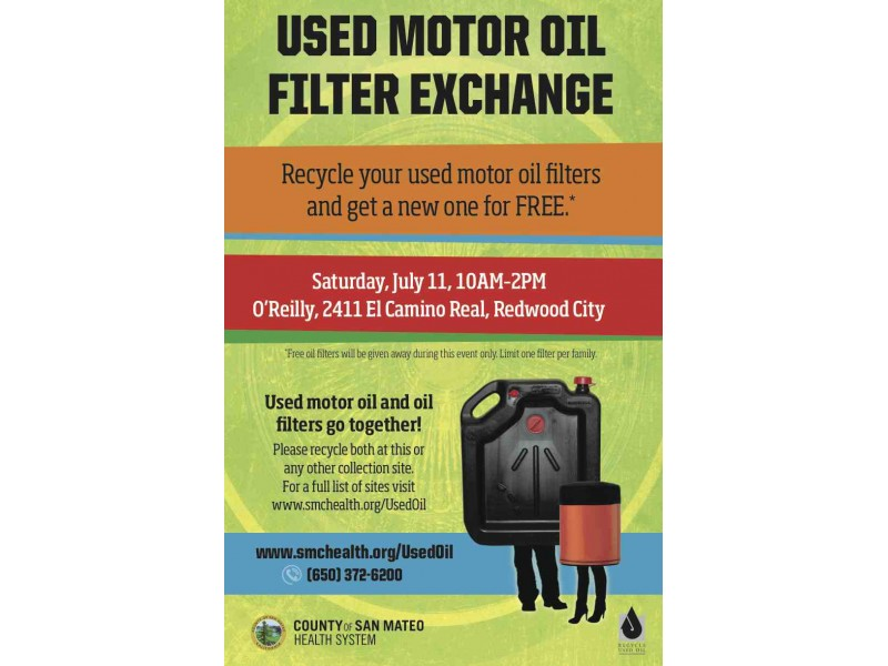 This Saturday On The Peninsula Free Motor Oil Filter When