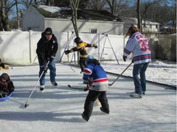 how to build a backyard ice hockey rink sachem ny patch