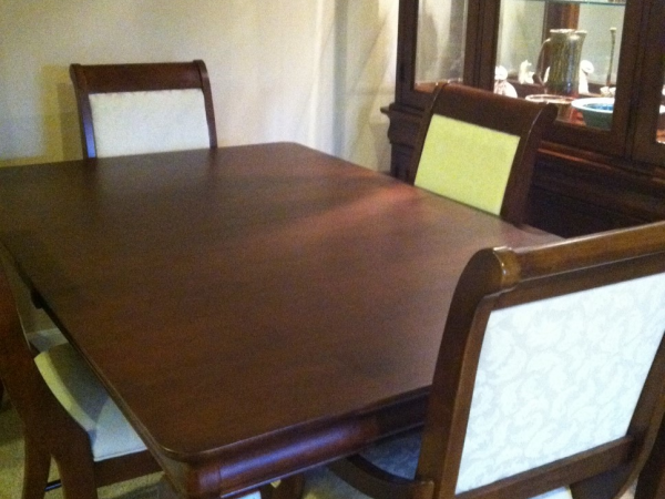 For Sale Solid Maple Kincaid Formal Dining Room Set 6