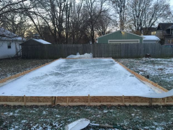 build your own backyard ice rink in 9 easy steps bethel ct patch