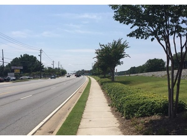 Sidewalk Landscaping Added To Buford Highway Peachtree