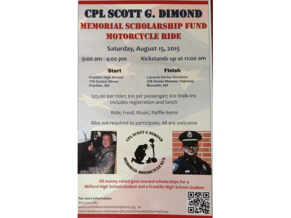 Cpl Scott G Dimond Memorial Motorcycle Run Concord Nh Patch