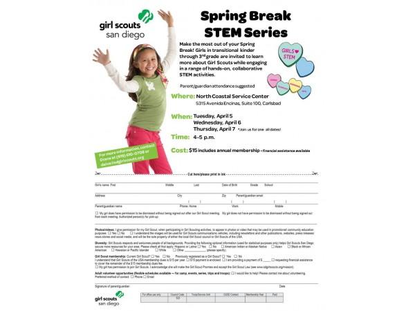 girl scouts stem spring break series   carlsbad ca patch
