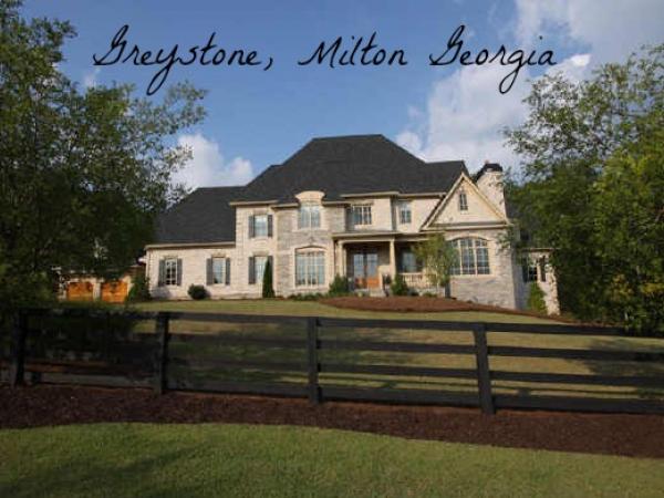 Greystone estates milton georgia luxury homes for Milton home builders