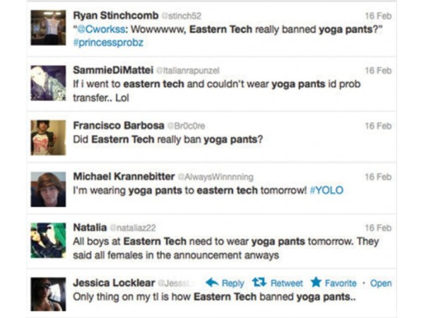 yoga pants not banned at eastern tech essex md patch