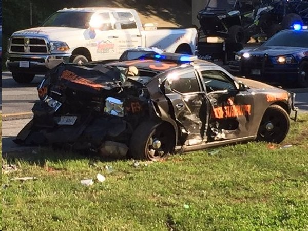 Trooper Injured Four Cruisers Wrecked In Police Chase