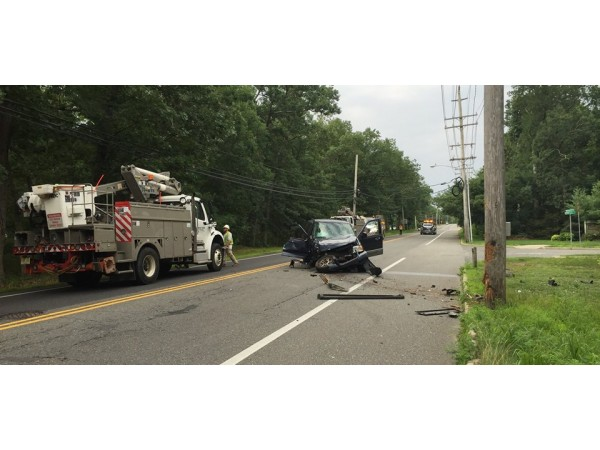 toms river car crashes into pole causes power outages toms river nj patch. Black Bedroom Furniture Sets. Home Design Ideas