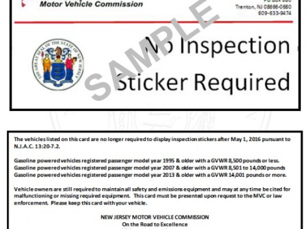 New jersey ending emissions testing for older cars for Motor vehicle inspection nj