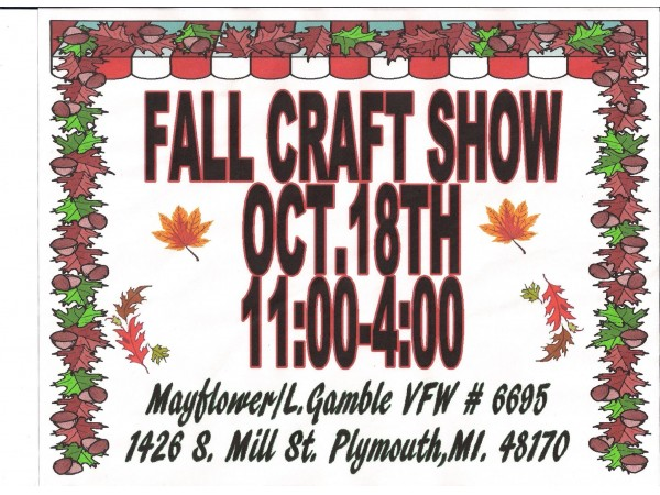 Fall craft show at the plymouth vfw post plymouth mi patch for Craft show in michigan
