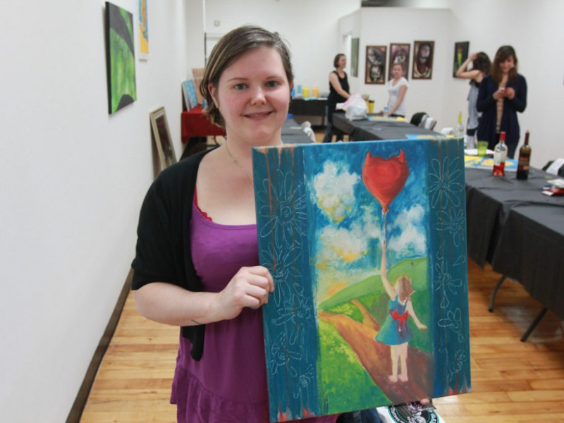 The drunken palette 39 fun art classes for adults 39 at the for Painting classes ct