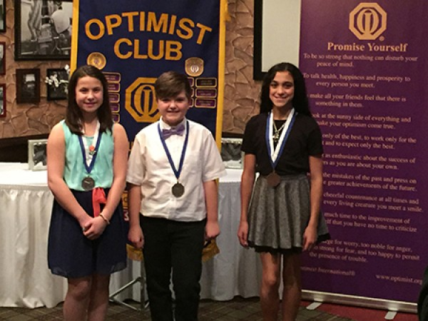 optimist club essay contest winner Zone winners advance to the district contest to compete for a $2,500 college scholarship the district level scholarships are funded by the optimist.