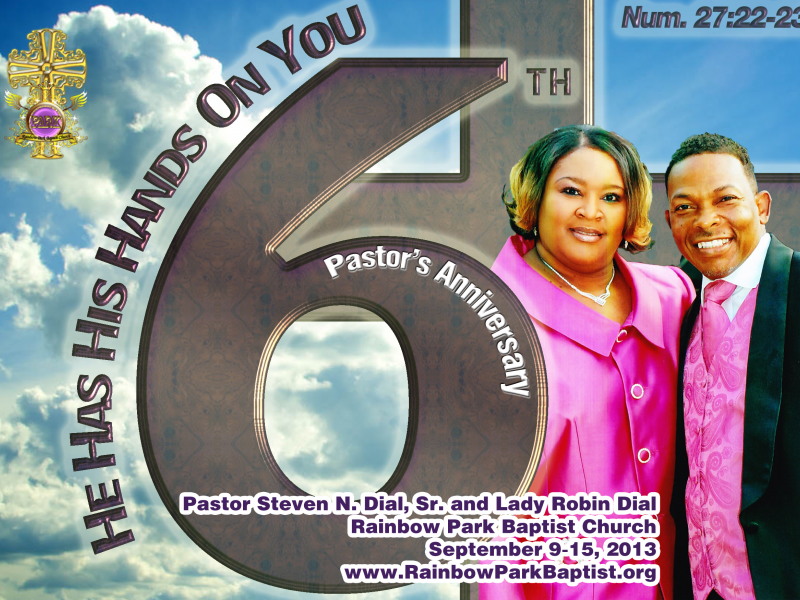 Rainbow park baptist church is proud to announce their pastors 6th rainbow park baptist church is proud to announce their pastors 6th anniversary gala and events altavistaventures Images