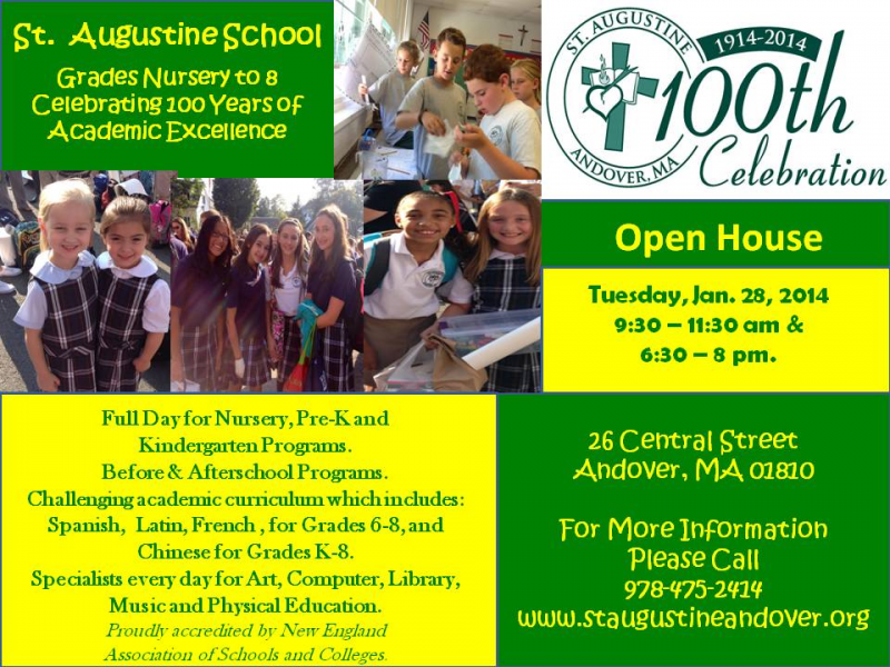 Open House At St Augustine School Andover Ma Patch