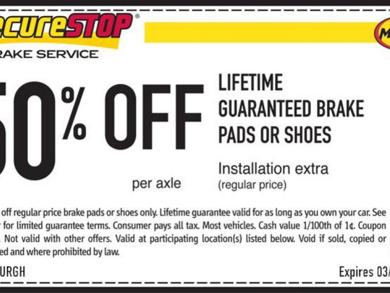 Midas Brake Coupons >> Midas Coupons | Chartiers Valley, PA Patch