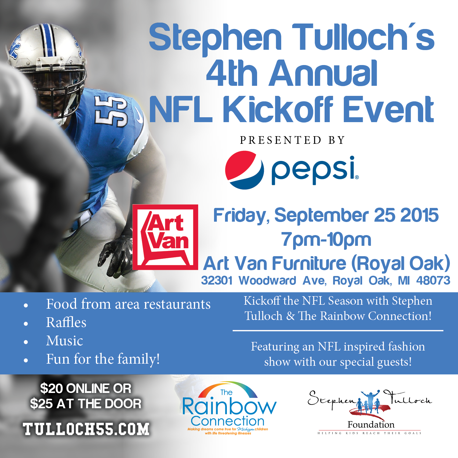 Brilliant Detroit Lions Stephen Tulloch Hosts 4Th Annual Nfl Kickoff Beutiful Home Inspiration Xortanetmahrainfo