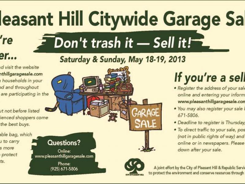 Over 100 Homes To Take Part In Citywide Garage Sale Pleasant Hill