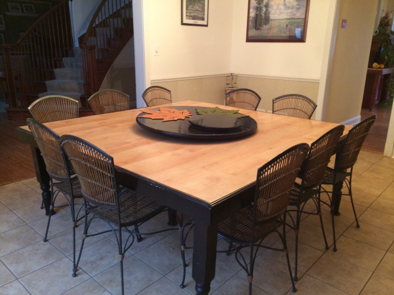 Awesome Unique Square Dining Table With Chairs Seats Up To 12!