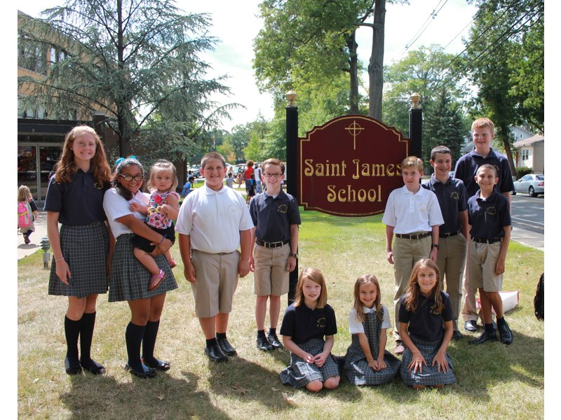 Back to School Smiles at Saint James the Apostle School in Springfield!
