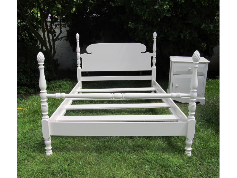 antique full size bed Antique Full Size Bed Frame with bedside table aka Restoration  antique full size bed