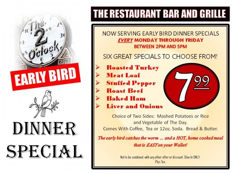 Early bird restaurant deals liverpool
