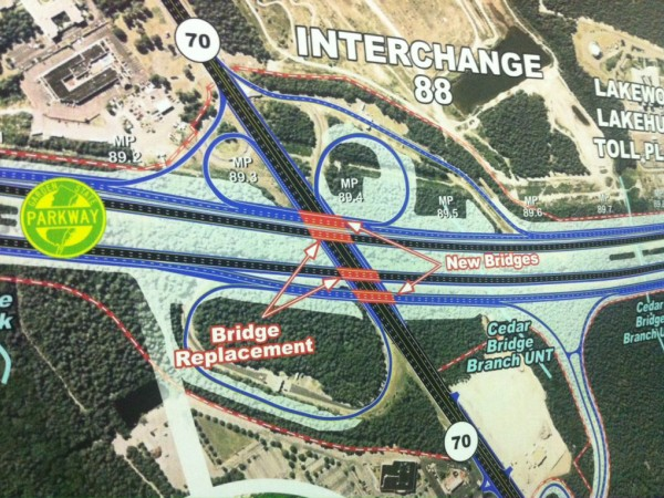 Photos maps of parkway plans for miles 83 to 100 toms river nj patch for Directions to garden state parkway south