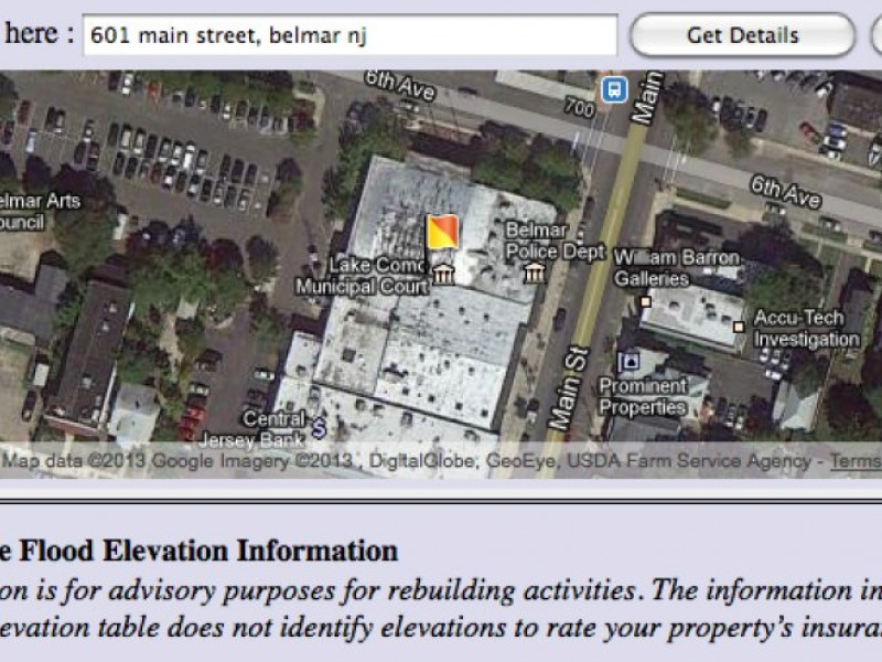 Input Your Address To Find FEMA Base Flood Elevation Little Silver - Fema base flood elevation map