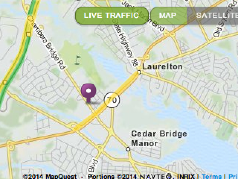 Traffic Map Live Road Conditions in Barnegat and Manahawkin During