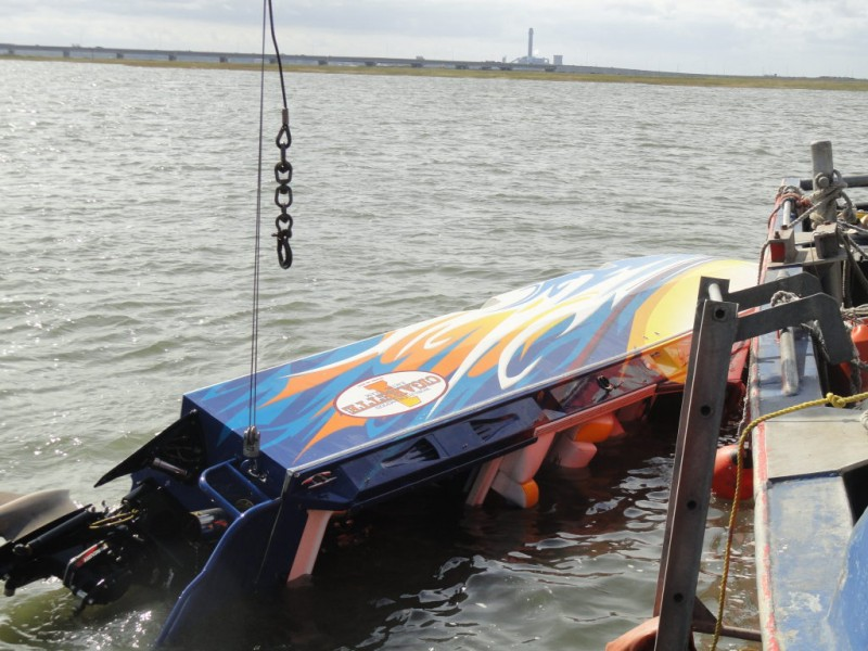 Three Sent To Hospital After Cigarette Boat Rolls And