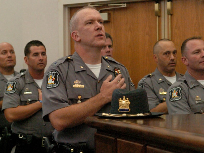 Police Chief Robert Brice Sworn In | Wall, NJ Patch