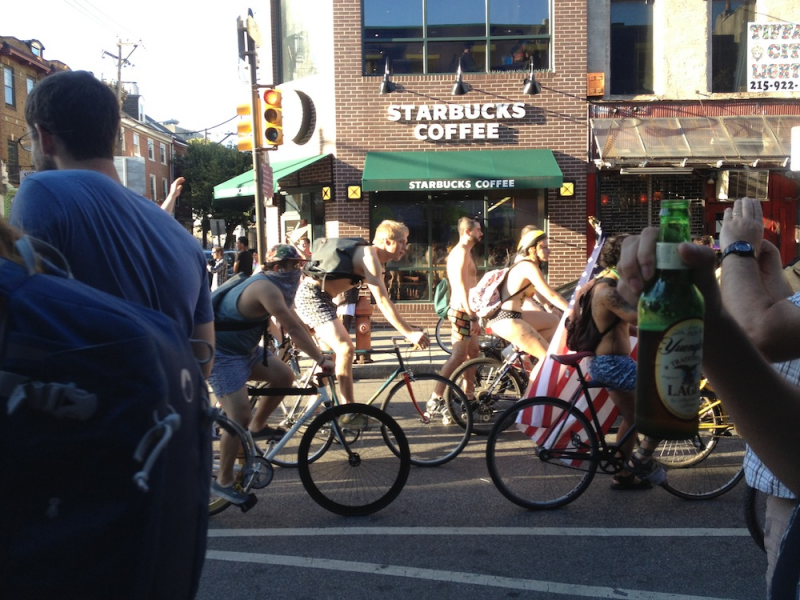 Think, Philadelphia naked bike ride hope