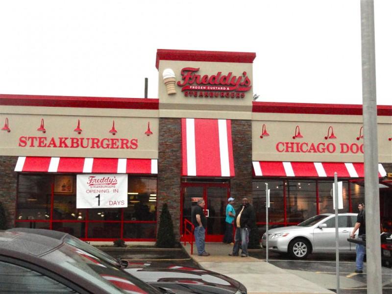 Freddy 39 s steakburgers 39 grand opening is tuesday marple - Mostardi s newtown square garden ...