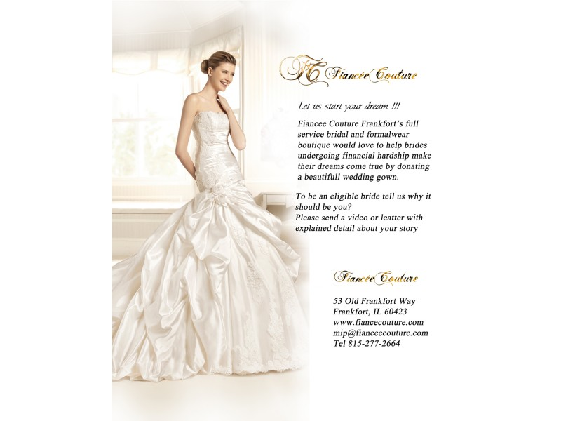 Fiancee Couture is donating beautiful wedding gowns | Frankfort, IL ...