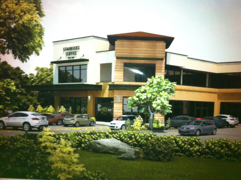 Construction On Starbucks Anchored Shopping Center Underway