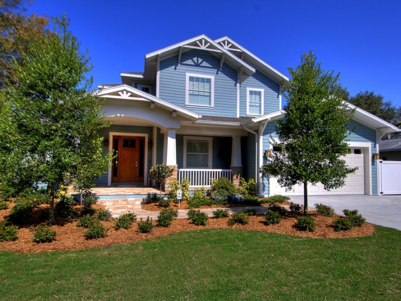 Tampa Bay Custom Homes Exterior Stone Accents Tampa Fl