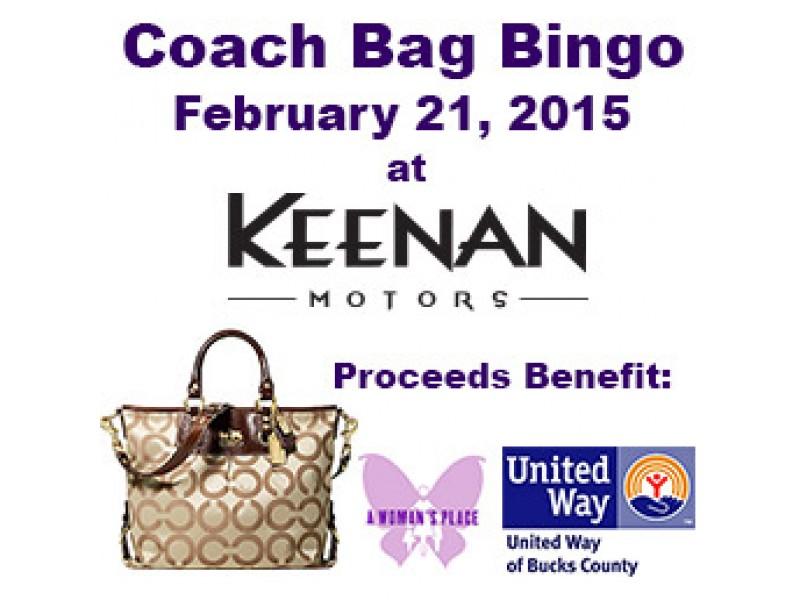 Coach bag bingo at keenan motors in doylestown pa for Keenan motors doylestown pa