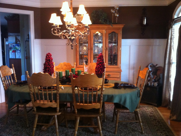 Complete Oak Dining Room Set w/ Table, 6 Chairs, China Hutch ...