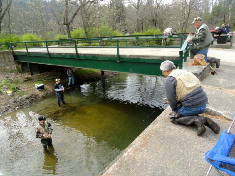 Pa fish and boat commission begins trout stocking upper for Pa fishing season
