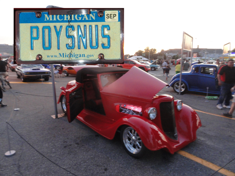 5 Custom License Plates At The Woodward Dream Cruise