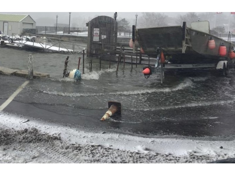 Blizzard Causes Flooding Across Ma Plymouth Ma Patch