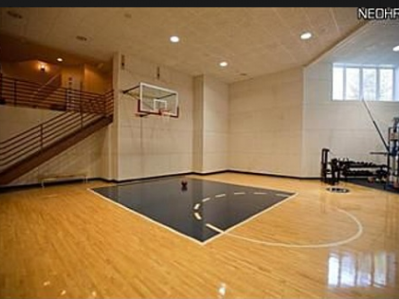 Mansion with indoor basketball court  NBA's Calvin Booth's Avon Lake Mansion For Sale Includes Indoor ...