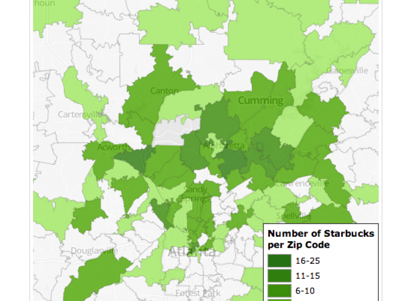 Buckhead Zip Code Map.Why Are There So Many Starbucks Around Buckhead And Atlanta