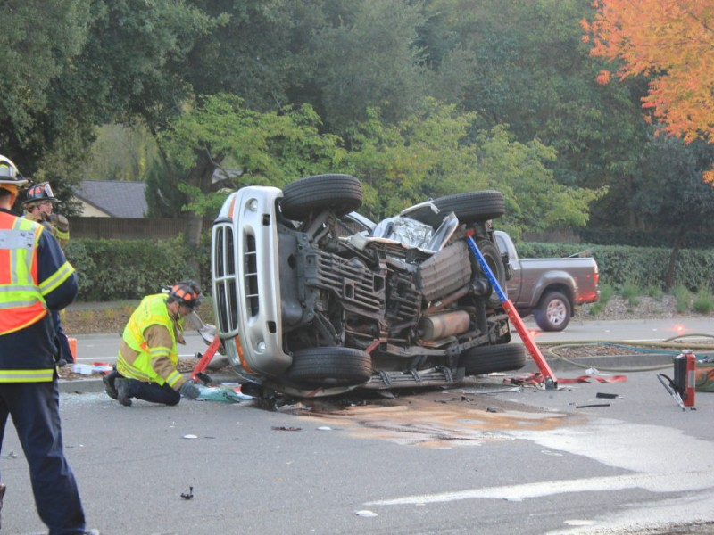 Lanes reopen following crash, car fire on i-680 in danville.