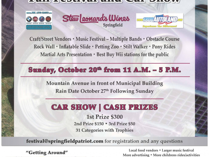 Fall Festival And Car Show Cruises Into Springfield Springfield - Car show trophy categories
