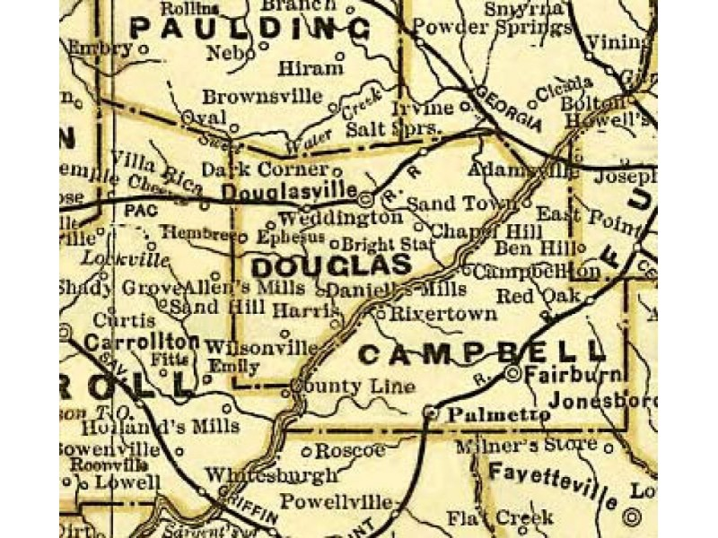 Our History, Blips on a Map: Wilsonville, Hannah and McWhorter ...