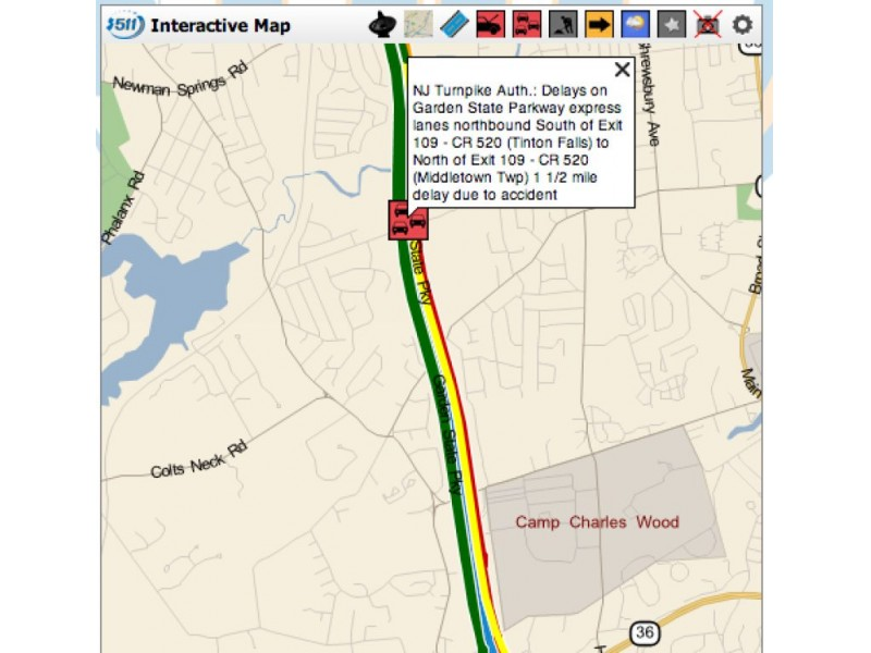 Delays Following Garden State Parkway Accident Near Exit 109 Middletown Nj Patch