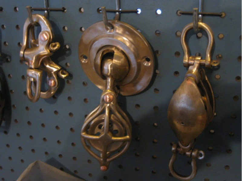 Bristol bronze makes marine hardware for classic boats and