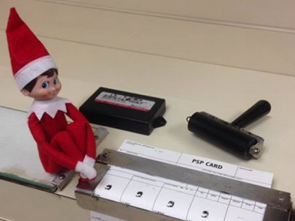 Meet Justice Township Police S Elf On The Shelf
