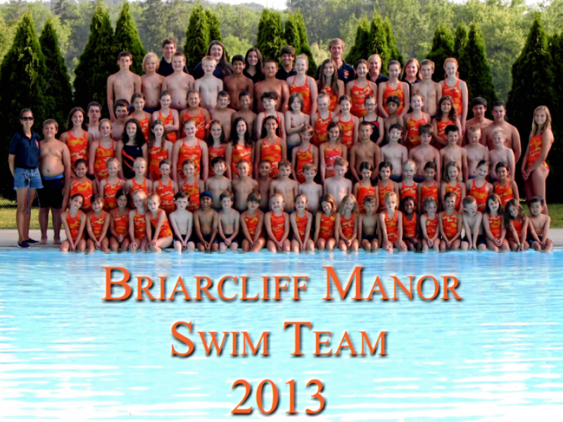 undefeated summer season for briarcliff swim team